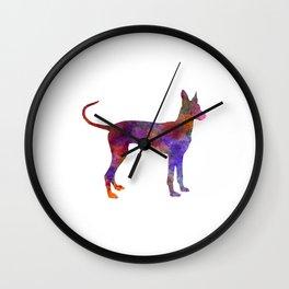 Cirneco dell Etna in watercolor Wall Clock