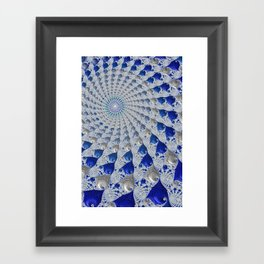 Tunnel Vision Blue Framed Art Print