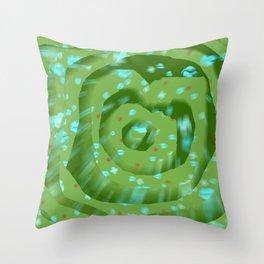 Green poppies S10 Throw Pillow