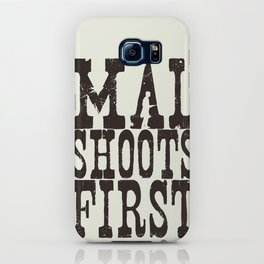 Mal Shoots First iPhone Case