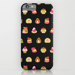 Strawberry Matcha - black iPhone Case