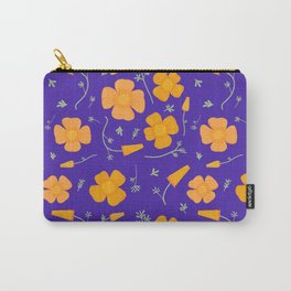 Poppies on Purple Carry-All Pouch