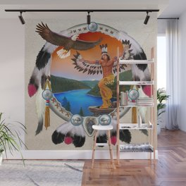 Indian Eagle Dancer Wall Mural
