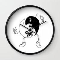 yin yang Wall Clocks featuring Yin-Yang by K-NIZZY