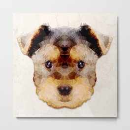 Abstract Yorkshire Terrier Metal Print