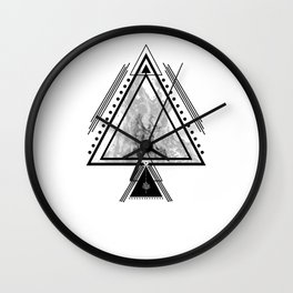 Wiccan Fire Element Symbol Pagan Witchcraft Triangle Wall Clock