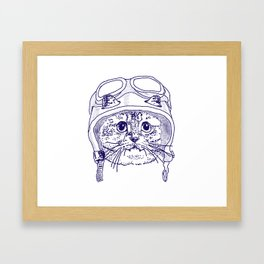 Moto Kitty Framed Art Print