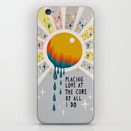 Placing love at the core of all I do iPhone Skin