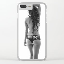 Stephanie (Hot Right Now) Clear iPhone Case