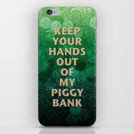 Private Property Piggy Bank iPhone Skin