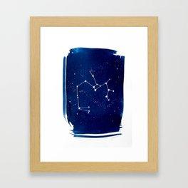 Saggitarius Zodiac Print Framed Art Print