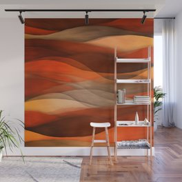 """""""Sea of sand and caramel waves"""" Wall Mural"""