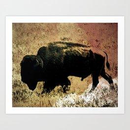 Golden hunt Art Print