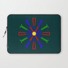 Field Hockey Stick Design Laptop Sleeve