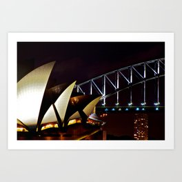 Opera Bridge Art Print