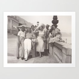 Vintage holiday photo in Cannes France Art Print