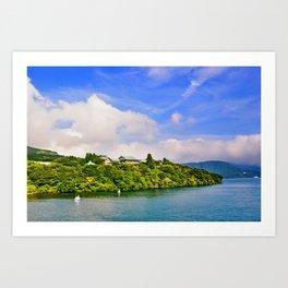 Lake Ashi Art Print