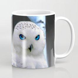Blue-eyed Snow Owl Coffee Mug
