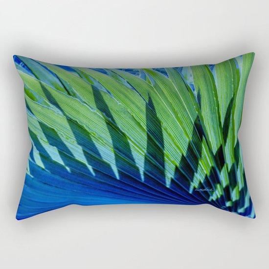 Palm Shadows Rectangular Pillow