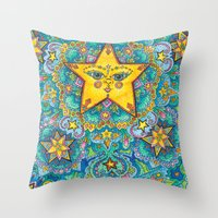 constellations Throw Pillows featuring Constellations by artworkbyemilie