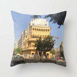 Tel Aviv Pagoda House - Israel Throw Pillow