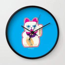 Chinese cat of prosperity Wall Clock