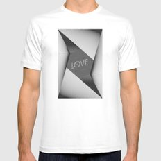 LOVE_ Mens Fitted Tee MEDIUM White