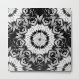 Abstract 09 black and grey pattern Metal Print