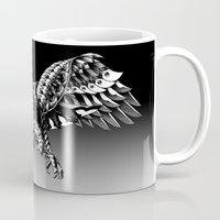 ornate Mugs featuring Ornate Falcon by BIOWORKZ