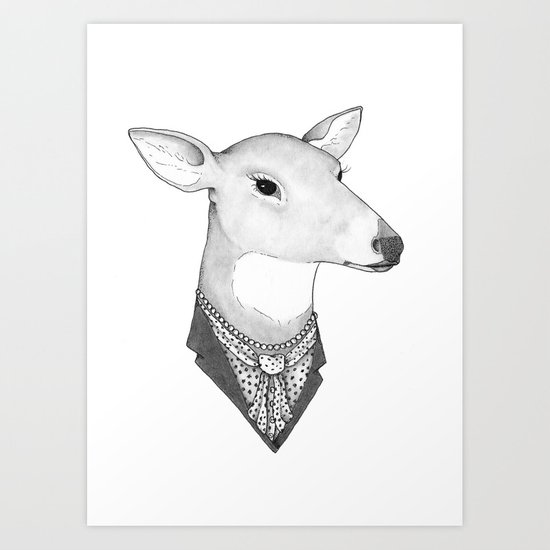 Mrs. Deer Art Print