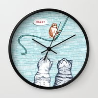 clueless Wall Clocks featuring What? by Alibabaform