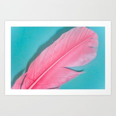 PINK FEATHER 2 Art Print