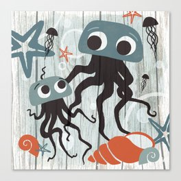 Jellyfish Love Canvas Print