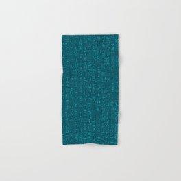 Hieroglyphics Moonstone BLUE / Ancient Egyptian hieroglyphics pattern Hand & Bath Towel