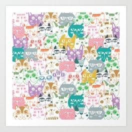 Candy Cat Art Print
