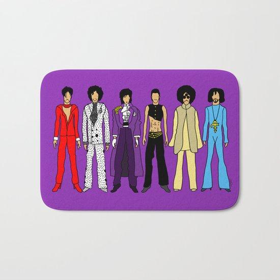 Outfits of Purple Fashion on Purple Bath Mat
