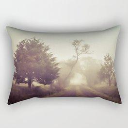 Walking in the fog Rectangular Pillow