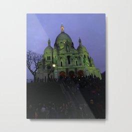Sacre Coeur at night Metal Print