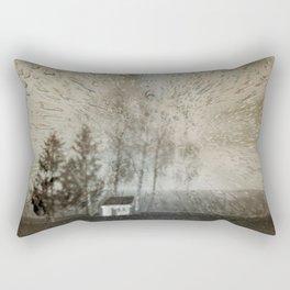 Concept landscape : Chapel in the rain Rectangular Pillow