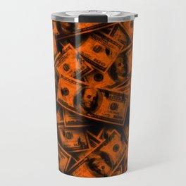 Orange Grunge Money Travel Mug