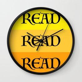 READ READ READ {YELLOW} Wall Clock