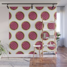 Strawberry Frosting Cookies Wall Mural