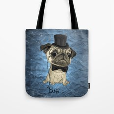 Pug; gentle pug (color version) Tote Bag