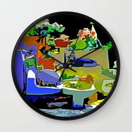 A Porcelain Toilet Garden Wall Clock