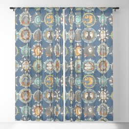 ASTROLOGY Sheer Curtain