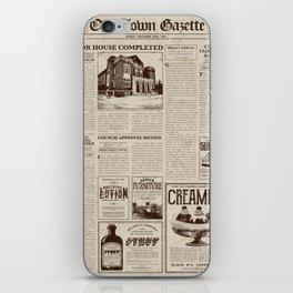 Vintage Newspaper iPhone Skin