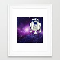 r2d2 Framed Art Prints featuring r2d2 by Lovemaltine