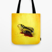 kill bill Tote Bags featuring KILL BILL onitsuka special by wrong planet