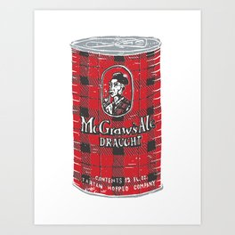 McGraws Ale Art Print