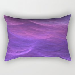 Pink and Purple Ultra Violet Soft Waves Rectangular Pillow